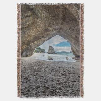 New Zealand, North Island, Coromandel Peninsula Throw Blanket