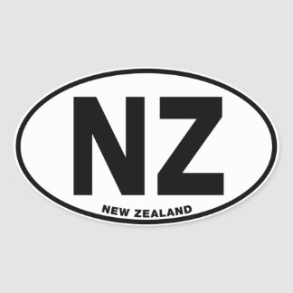 New Zealand NZ Oval ID Identification Code Initial Oval Sticker