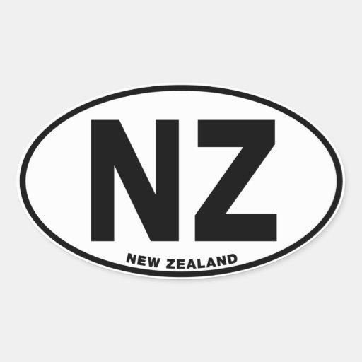 New Zealand NZ Oval ID Identification Code Initial Stickers