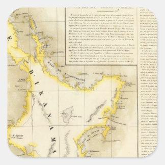 New Zealand Oceania no 59 Square Sticker