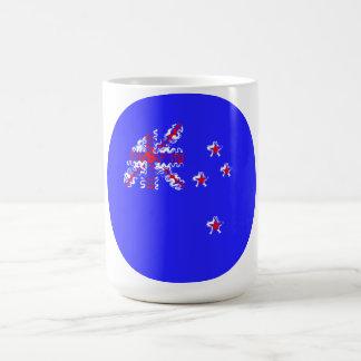 New Zealand on Blue Circle Mug