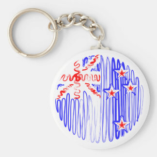 New Zealand on White Keychain
