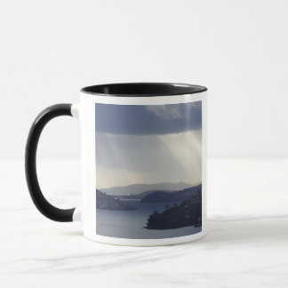 New Zealand, Otago, Dunedin, Light Shafts over Mug