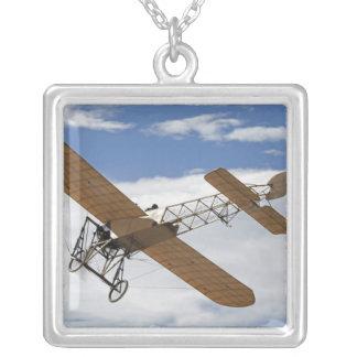 New Zealand, Otago, Wanaka, Warbirds Over 3 Square Pendant Necklace