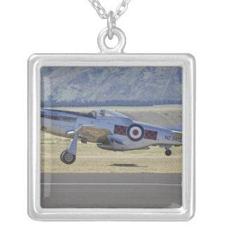New Zealand, Otago, Wanaka, Warbirds Over 4 Silver Plated Necklace