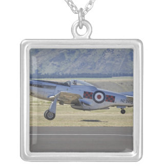 New Zealand, Otago, Wanaka, Warbirds Over 4 Square Pendant Necklace