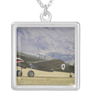 New Zealand, Otago, Wanaka, Warbirds Over 5 Silver Plated Necklace