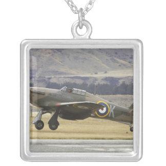 New Zealand, Otago, Wanaka, Warbirds Over 6 Square Pendant Necklace