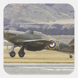 New Zealand, Otago, Wanaka, Warbirds Over 6 Square Sticker