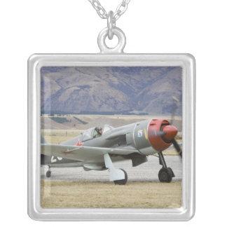New Zealand, Otago, Wanaka, Warbirds Over 7 Silver Plated Necklace