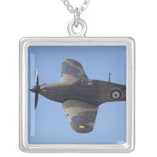 New Zealand, Otago, Wanaka, Warbirds Over 8 Silver Plated Necklace