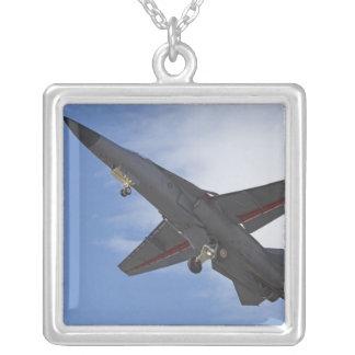 New Zealand, Otago, Wanaka, Warbirds Over Silver Plated Necklace