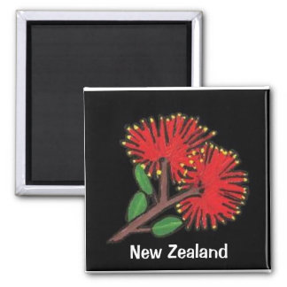 New Zealand Pohutakawa Magnet