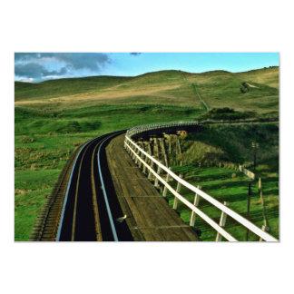 New Zealand Rail En Route To Wellington 13 Cm X 18 Cm Invitation Card