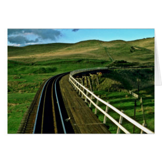 New Zealand Rail En Route To Wellington Greeting Card