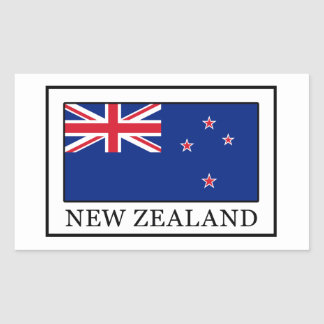 New Zealand Rectangular Sticker
