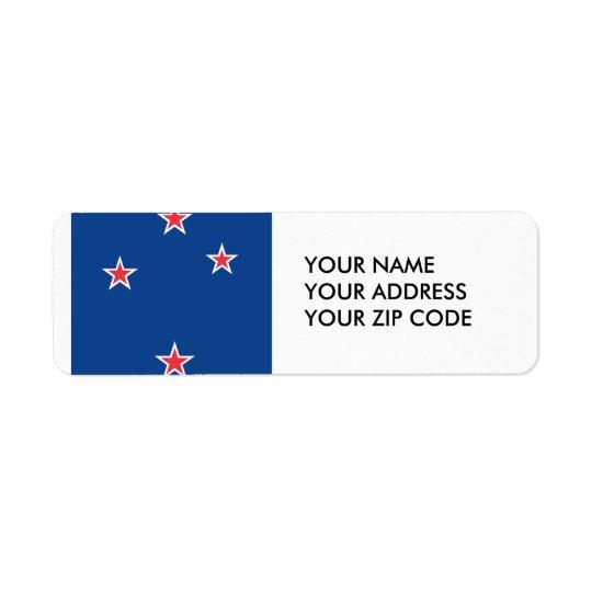 New Zealand Return Address Label