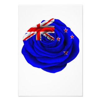 New Zealand Rose Flag Custom Announcements