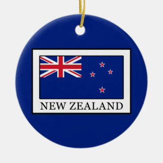 New Zealand Round Ceramic Decoration