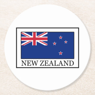 New Zealand Round Paper Coaster