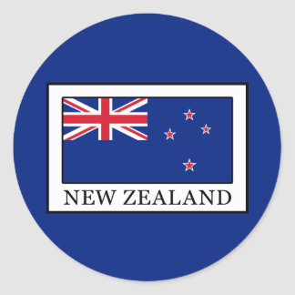 New Zealand Round Sticker