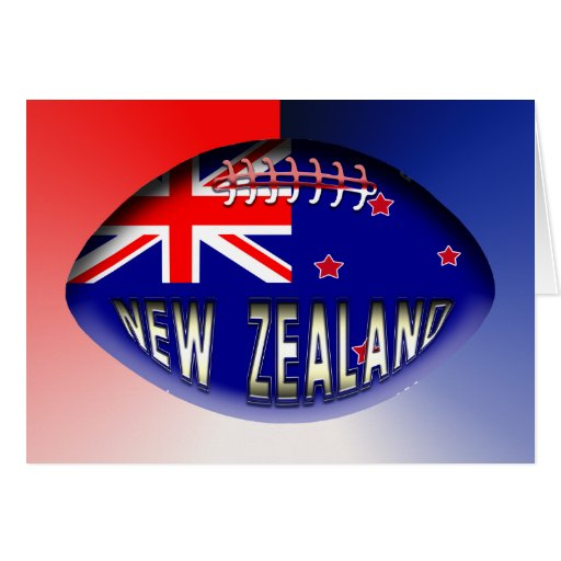 New Zealand Rugby Ball Greeting Card