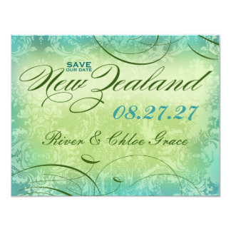 NEW ZEALAND Save the Date 11 Cm X 14 Cm Invitation Card