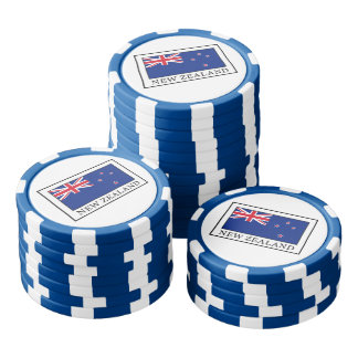 New Zealand Set Of Poker Chips