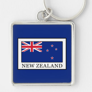 New Zealand Silver-Colored Square Key Ring