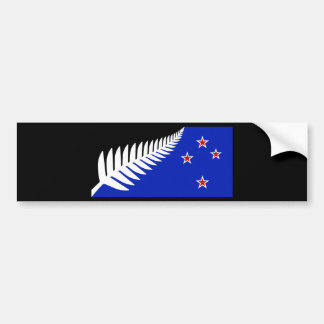 New Zealand Silver Fern Flag Bumper Sticker