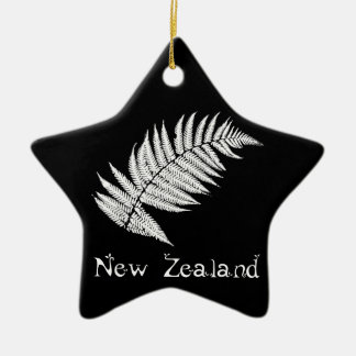New Zealand Silver Fern Ornament