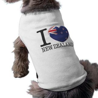 New Zealand Sleeveless Dog Shirt
