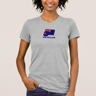 New Zealand Soccer Ball and Flag Shirt