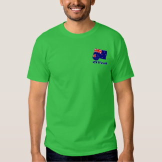 New Zealand Soccer Ball and Flag Tee Shirts