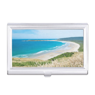 New Zealand, South Island, Catlins, Tautuku Bay Business Card Holder