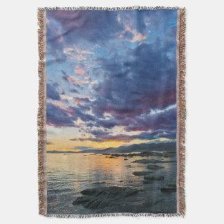 New Zealand, South Island, Kaikoura, South Bay Throw Blanket
