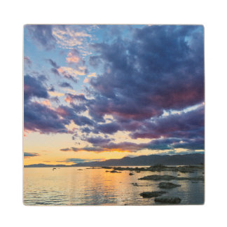New Zealand, South Island, Kaikoura, South Bay Wood Coaster