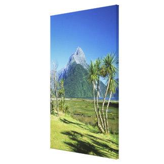 New Zealand, South Island,  Mitre Peak, Canvas Print