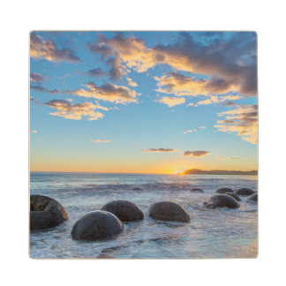 New Zealand, South Island, Moeraki Boulders Wood Coaster