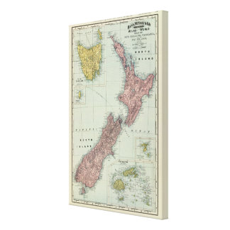 New Zealand, Tasmania, Fiji Canvas Print