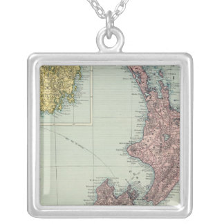 New Zealand, Tasmania, Fiji Silver Plated Necklace