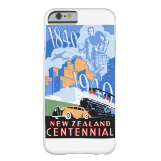 New Zealand Vintage Poster Restored Barely There iPhone 6 Case