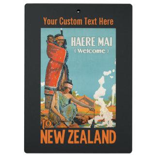 New Zealand vintage travel clipboard