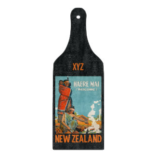 New Zealand vintage travel custom cutting board