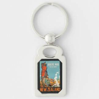 New Zealand vintage travel key chain