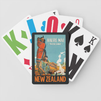 New Zealand vintage travel playing cards