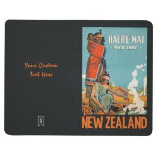 New Zealand vintage travel pocket journal