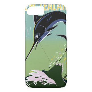 New Zealand Vintage Travel Poster Restored iPhone 7 Case
