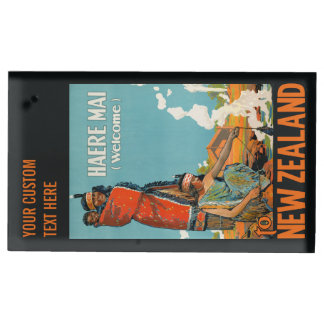New Zealand vintage travel table card holder