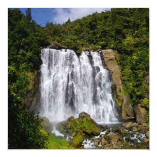 New Zealand Waterfall 13 Cm X 13 Cm Square Invitation Card